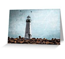 Walton Lighthouse Santa Cruz, California Greeting Card