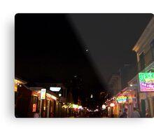 Bourbon Streetscape By Night Metal Print