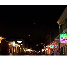 Bourbon Streetscape By Night Photographic Print