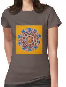 Doily Joy- Original Mandala Womens Fitted T-Shirt