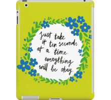Ten Seconds iPad Case/Skin