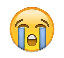 Loudly Crying Face Apple / WhatsApp Emoji by emoji
