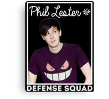 Join the PHIL LESTER DEFENSE SQUAD (White) Canvas Print