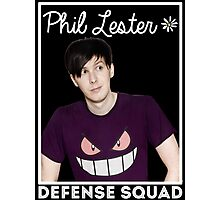 Join the PHIL LESTER DEFENSE SQUAD (White) Photographic Print