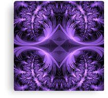 Purple Patterns Canvas Print