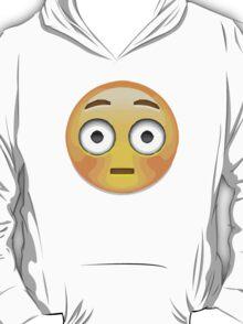 Flushed Face Apple / WhatsApp Emoji T-Shirt