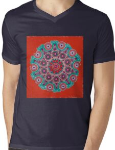 Doily Joy Mandala- Hot Summer Mens V-Neck T-Shirt