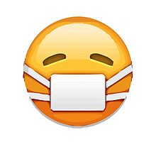 Face With Medical Mask Apple / WhatsApp Emoji by emoji