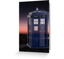 Space Box Greeting Card