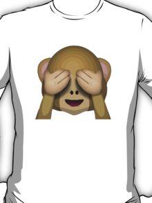 See-No-Evil Monkey Apple / WhatsApp Emoji T-Shirt