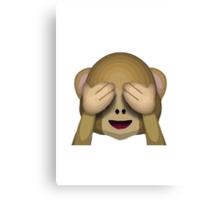 See-No-Evil Monkey Apple / WhatsApp Emoji Canvas Print