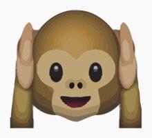 Hear-No-Evil Monkey Apple / WhatsApp Emoji Kids Clothes