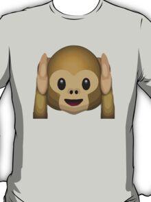 Hear-No-Evil Monkey Apple / WhatsApp Emoji T-Shirt