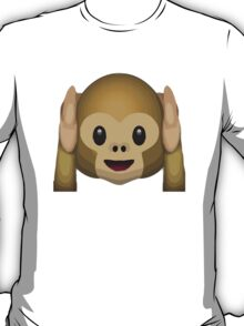 Hear-No-Evil Monkey Apple / WhatsApp Emoji T-Shirt