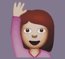Happy Person Raising One Hand Apple / WhatsApp Emoji Kids Clothes