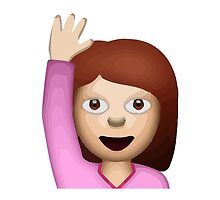 Happy Person Raising One Hand Apple / WhatsApp Emoji by emoji