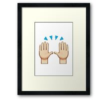 Person Raising Both Hands In Celebration Apple / WhatsApp Emoji Framed Print
