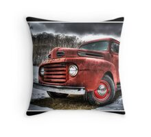 Vintage Ford I Throw Pillow
