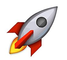 Rocket Apple / WhatsApp Emoji by emoji