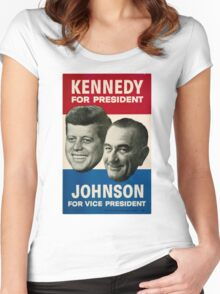 Kennedy and Johnson Women's Fitted Scoop T-Shirt