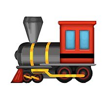 Steam Locomotive Apple / WhatsApp Emoji by emoji