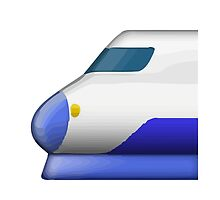 High-Speed Train With Bullet Nose Apple / WhatsApp Emoji by emoji