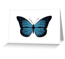 Blue Monarch Butterfly Greeting Card