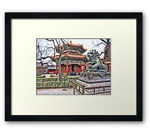 Temple, Beijing, China Framed Print