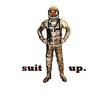 Space Suit Up Photographic Print