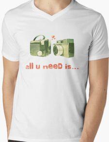 all u need is... Mens V-Neck T-Shirt