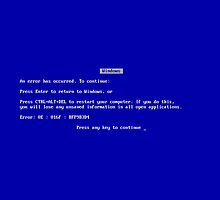Blue Screen of Death by shawnshyguy