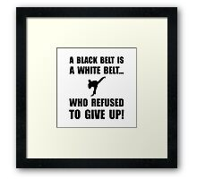 Black Belt Refusal Framed Print