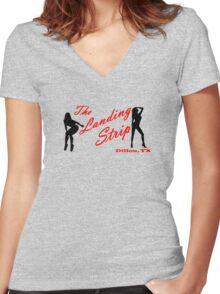 The Landing Strip - Friday Night Lights Women's Fitted V-Neck T-Shirt
