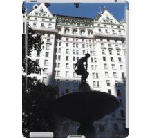 Fountain, Statue, Plaza Hotel, Central Park South, New York City iPad Case/Skin