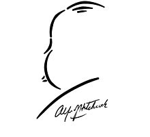 Alfred Hitchcock - Black on White by Kevitch