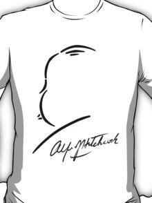 Alfred Hitchcock - Black on White T-Shirt