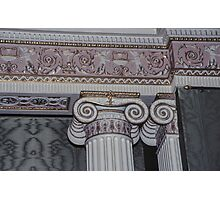 Wall capital in sideboard room Harewood House 1759 1771 West Yorkshire England 19840603 0015 Photographic Print