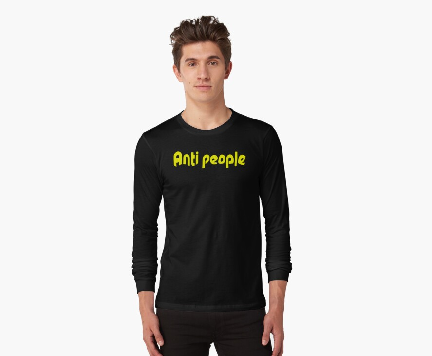 Anti people T-shirt by Hannah Fenton williams