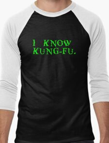 THE MATRIX: I know Kung-Fu Men's Baseball ¾ T-Shirt