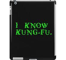 THE MATRIX: I know Kung-Fu iPad Case/Skin