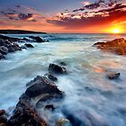 Hallett Cove Sunset by Bill  Robinson