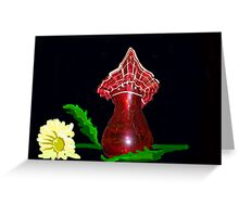 Red vase with Flower Greeting Card