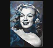 Marilyn Monroe with a bit of smoke by JoAnnFineArt