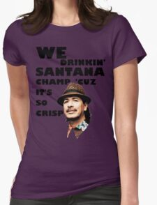 LONELY ISLAND - ON A BOAT - SANTANA CHAMP Womens Fitted T-Shirt