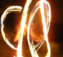 Fire twirling I by Carmel  Morrissy