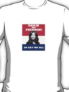 Battlestar Galactica: Roslin for President T-Shirt