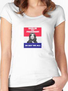 Battlestar Galactica: Roslin for President Women's Fitted Scoop T-Shirt