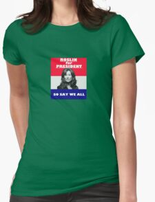 Battlestar Galactica: Roslin for President Womens Fitted T-Shirt