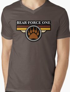 Bear Force One Mens V-Neck T-Shirt