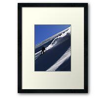 Mountain Shredder Framed Print